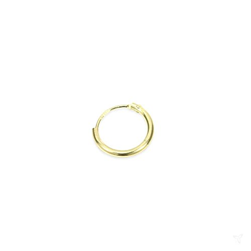 NKlaus Single 375 gelb Gold Creole 11mm 3754