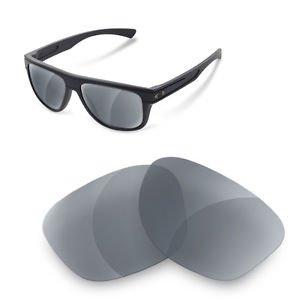 sunglasses restorer Kompatibel Ersatzgläser für Oakley Breadbox (Polarized Grey Gläser)