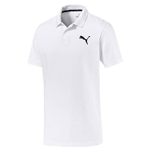 Puma ess pique, t-shirt uomo, bianco/cat, s