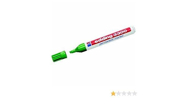 Edding 3300 Permanent schwarz blau grün rot Stift wasserfest 2 Stück