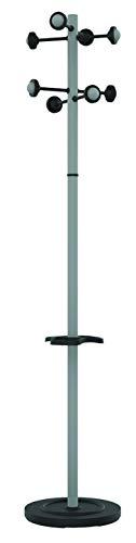 Unilux 162361 - Perchero, 8 colgadores, color gris