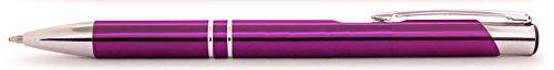 Violetter Aluminium Kugelschreiber Paragon mit SOFORTGRAVUR + VORSCHAU: Gravur des Vornamens inklusive. In Geschenkverpackung