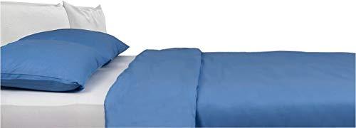 Carpe Sonno Kühle Mako-Satin Bettwäsche 240 x 220 cm Azur-Blau aus 100{9f78e16a18676a20404650a08f9510153706858c372817d8a3ecaafe1898db16} Baumwolle Schlafkomfort – Hotel-Bettwäsche Set mit Kopfkissen-Bezug und Mako Satin Hotel-Bettwäsche