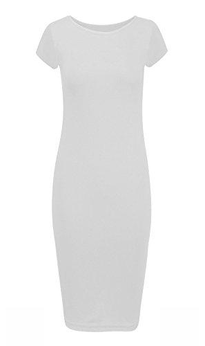 Generic Damen Schlauch Kleid Weiß
