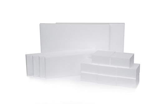 Silverlake Bastelschaumblöcke - verschiedene Packungen - EPS-Styropor-Blocks für Bastelarbeiten, Modellierung, Kunstprojekte und Blumengestecke - Skulptur Blätter für DIY Schule und Home Art Projekte -