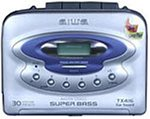 Aiwa HS-TX416 tragbarer Kassettenspieler mit Radio silber