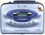 Aiwa HS-TX416 tragbarer Kassettenspieler mit Radio Silber Aiwa Stereo Radio