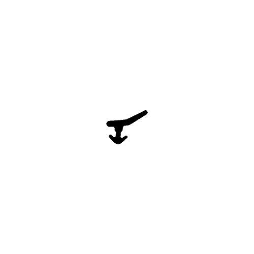 DIWARO.® Lippen-Dichtung LP463 | schwarz | 5 lfm für Fenster und Türen aus Kunststoff, Aluminium und Holz