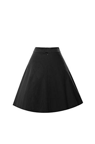 iLover 50er Jahre Retro Schwingen Weinlese Petticoat Rockabilly Tutu A Line  Underskirt Black