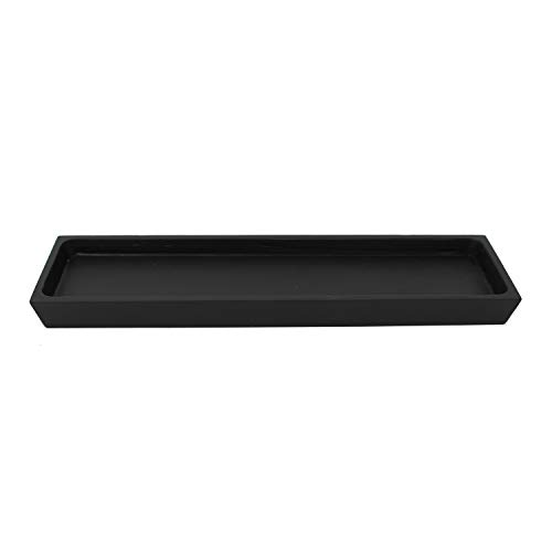 Trendy Wood & Light Tablet schwarz Dekoschale Holz Schale Deko modern Dekoartikel Geschenk (schwarz)