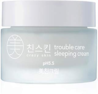 Crazy Skin Korea - Weakly Acidic ph level 5.5 Trouble Care Sleeping Cream 50g - Retinol Vitamin A Facial Moisturizer