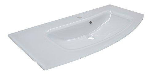 Fackelmann RONDO Glasbecken / Breite: 100 cm