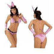 Kostüm mit Ohren und Halsband Gr.L/XL Rosa-Schwarz, 1er Pack (1 Stück) (Weibliche Bunny-kostüm)