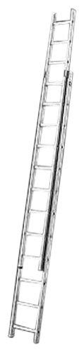 Hailo ProfiStep duo, 2-teilige Alu-Schiebeleiter, 2x15 Sprossen, Leiternteile einzeln verwendbar, belastbar bis 150 kg, made in Germany, 7215-001