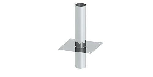 Schornsteinerhöhung / Kaminerhöhung 500mm wirksame Verlängerung, EW einwandig, Wandstärke 0,6mm; Ø 180mm Innendurchmesser, Edelstahl