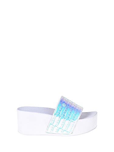 Tommy Hilfiger Sandali e Infradito per Le Donne, Color Bianco, Marca, Modelo Sandali E Infradito per Le Donne High Pool Slide Shiny IR Bianco