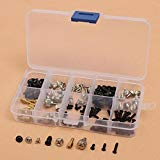 Pukido 165pcs Computer Screws for Motherboard PC Case CD-ROM Hard Disk Notebook Screws