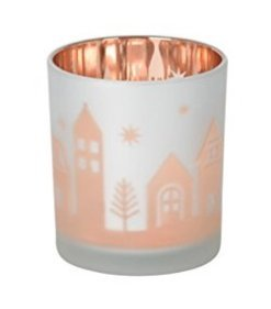 Yankee Flicker Candle (Winter Village - Votive Holder - Flicker Glass)