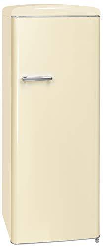 Exquisit RKS 325-16 RVA++MW Retro-Kühlschrank/EEK: A++/229 Liter/Retro-Handgriff/LED-Innenbeleuchtung/Magnolienweiß