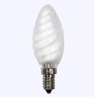 10 x Glühlampe Glühbirne Kerze gedreht E14 25W 25 Watt matt 230V Leuchtmittel