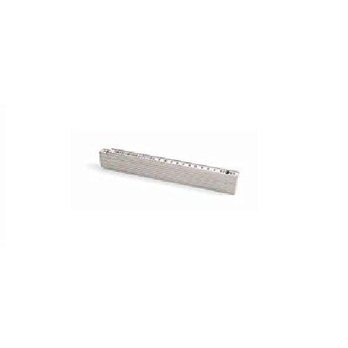 Metrica 18010 Glasfaser-Massstab 2 m, weiß