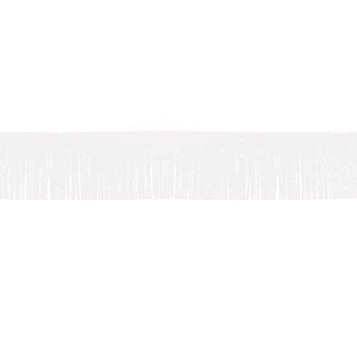 NEU Fransen-Girlande, 10 m, weiss, 1 Stk. (Kunststoff-fransen-girlande)