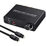 Neoteck DAC Convertitore 192Khz Audio Decoder Controllo Volume Supporta DTS/Dolby AC3 5.1CH Ottico Cossiale SPDIF Toslink Digitale a RCA L/R e 3.5mm Jack Analogico per HDTV PS3 PS4 DVD