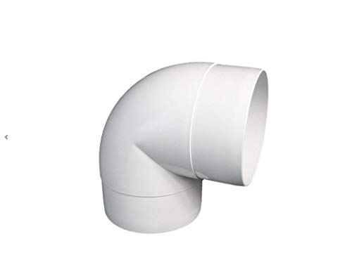 Bogen 90° Lüftungsrohr ABS Rundrohr Ø 100 Abluft-Rohr 100 mm , PVC , AL100-90