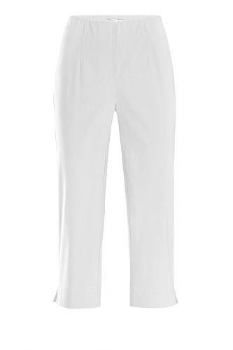 Stehmann Ina-530, bequeme, stretchige Caprihose Größe 42, Farbe weiß
