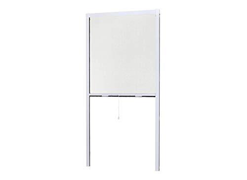 Zanzariera per finestra, avvolgibile, in alluminio, con rullo in alluminio, fissaggio facile e installazione rapida, bianco