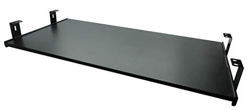 FIX&EASY Tastaturauszug mit Tastaurablage 800X400mm Esche-schwarz Dekor, Auszugschienen schwarz 400mm, Set Ablage mit Auszug für Tastatur Maus Keyboard Laptop