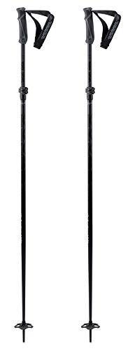 K2 Skis Freeride FLIPJAW Black Skistock, schwarz, 115-135 cm