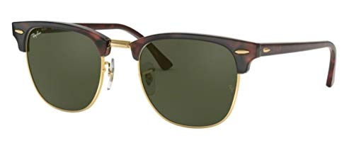 d3970529e5 Ray-Ban RB3016 Clubmaster Classic Unisex Sunglasses (Tortoise Frame/Green  G-15