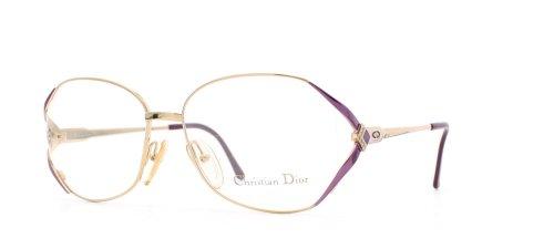 Christian Dior Damen Brillengestell Gold Gold Purple