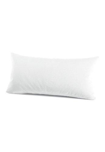 Schlafgut 035-011 Mako Jersey Kissenbezug / 40 x 80 cm, Weiss -