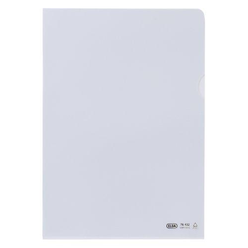 ELBA 100461003 Sichthüllen Premium 100 Stück für DIN A4 aus PVC 0,14 mm seidenmatt dokumentenecht transparent farblos oben und seitlich offen Aktenhüllen Plastikhülle Klarsichthülle ideal fürs Büro und die mobile Organisation (100% Pvc-computer-tasche)