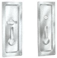 Baldwin 8580 Privacy Sliding Door Lock, Polished Brass by