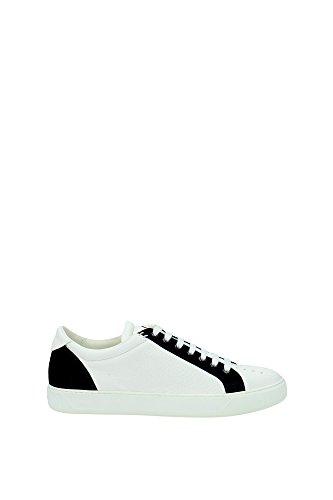 Sneakers Moncler Uomo Pelle Bianco e Blu A209H004080007655003 Bianco 41EU