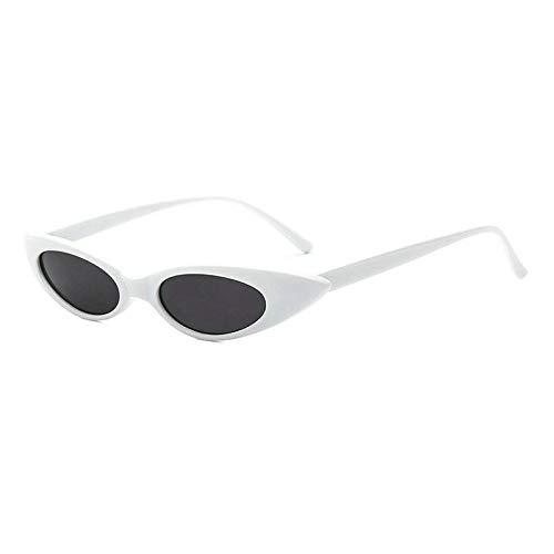 GBST Progressive Multifocal Glasses Frame Female Version of The Tide Retro Metal Optical Round Reading Art Reading Glasses,White Gray