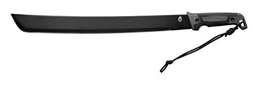 Gerber Machete mit Nylon-Scheide, Klingenlänge: 45 cm, Gator Bush Machete, Carbonstahl, 31-002848 -