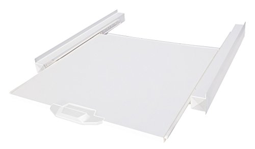 Meliconi Base Tower Kit di Sovrapposizione Universale per lavatrice e asciugatrice, Metallo, Bianco