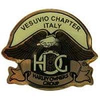 Generico Piccola Spilla Pin Vesuvio Chapter Italy Pin Hog Harley Davidson Group meas. 4x3,5 cm