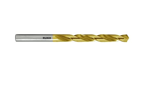 High Speed Steel RUKO 250808T Jobber Length Drill Bit 11//64 TiN Coated Pack of 10 Ground with Split Point M2