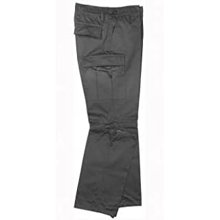 Robust + Comfortable US Style Outdoor Jungle Zip-Off Trousers Fishing Trousers With Zip Various Colors XS-XXL (XS, Black)