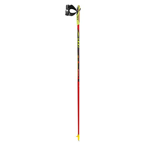LEKI Nordic Walking Stöcke Walker Platinium, Red, 115 cm, 6322538