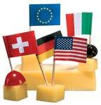 Susy Card 11144177 - Partypicker, Flaggen, verschiedene Nationen, 50 Stück
