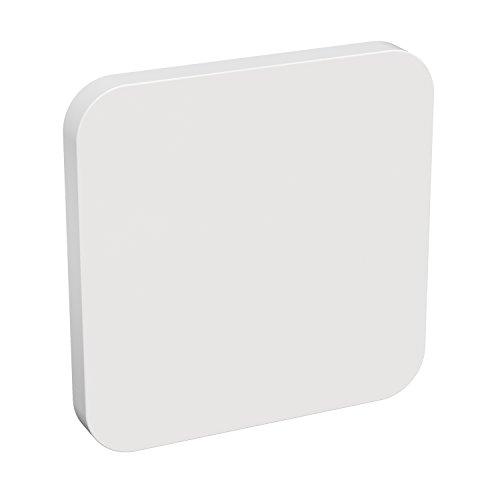 ledscom.de LED Gips Wandleuchte GIEDI DIY, eckig, 6W, 400lm, warmweiß, 230V -