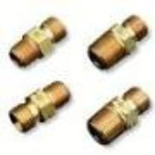 Western Enterprises 543 Brass Hose Adaptors, NPT Thread/Barb, Brass, 3/8, Npt Thread/barb male Connection, 0.5 Length, 1/4 in (NPT) by Western Enterprises -