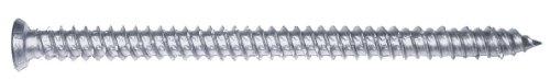 PARCO 604TOP75X182 Fensterrahmenschrauben 7,5 x 182 mm, Senkkopf, Torx TX30, 100 Stück, Silber