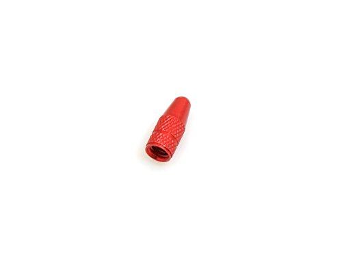 System-S Ventilkappe Presta Sclaverand-Ventil Fahrrad Ventil Kappe aus Aluminium in Rot (Aluminium-kappe)